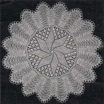 doily patterns for beginners | Pinwheel Danish Knitted ...
