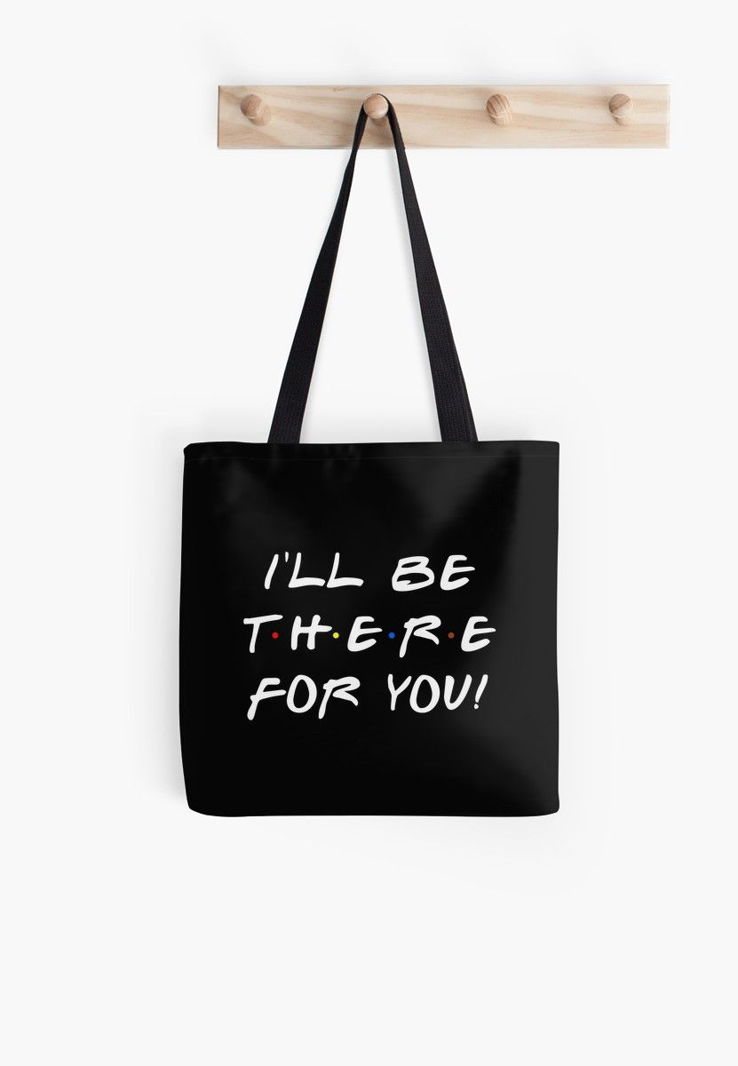 Friends TV Show Dress Like Rachel Sitcom Quote Cotton Shopping Tote Bag