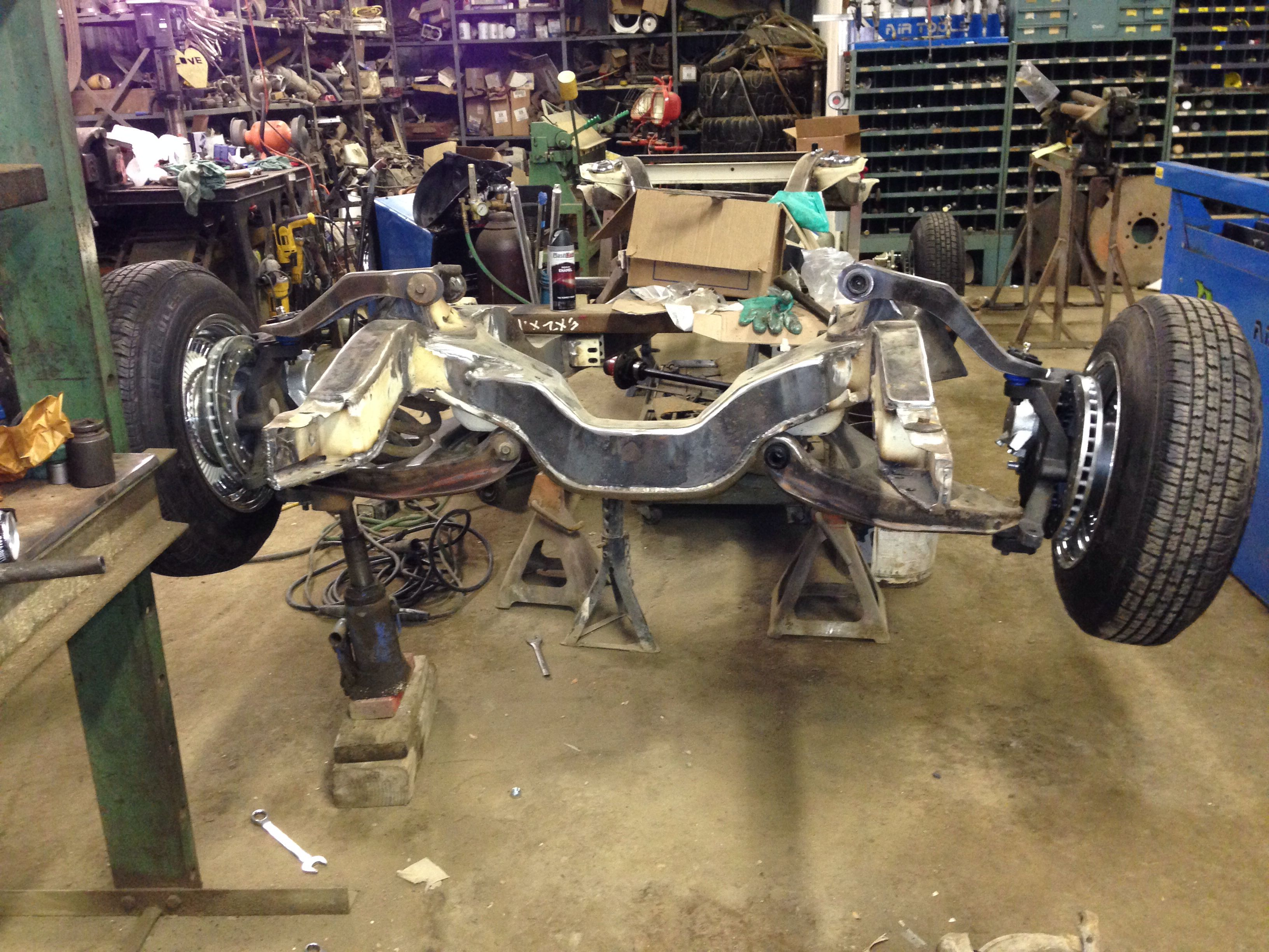 64 impala reinforced frame with custom extended and molded a arms ...