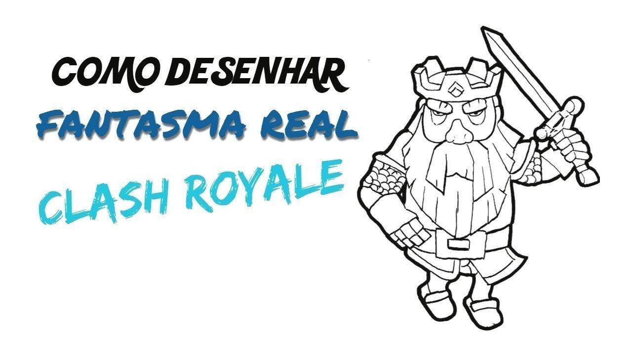 como desenhar o fantasma real passo a passo clash royale meu