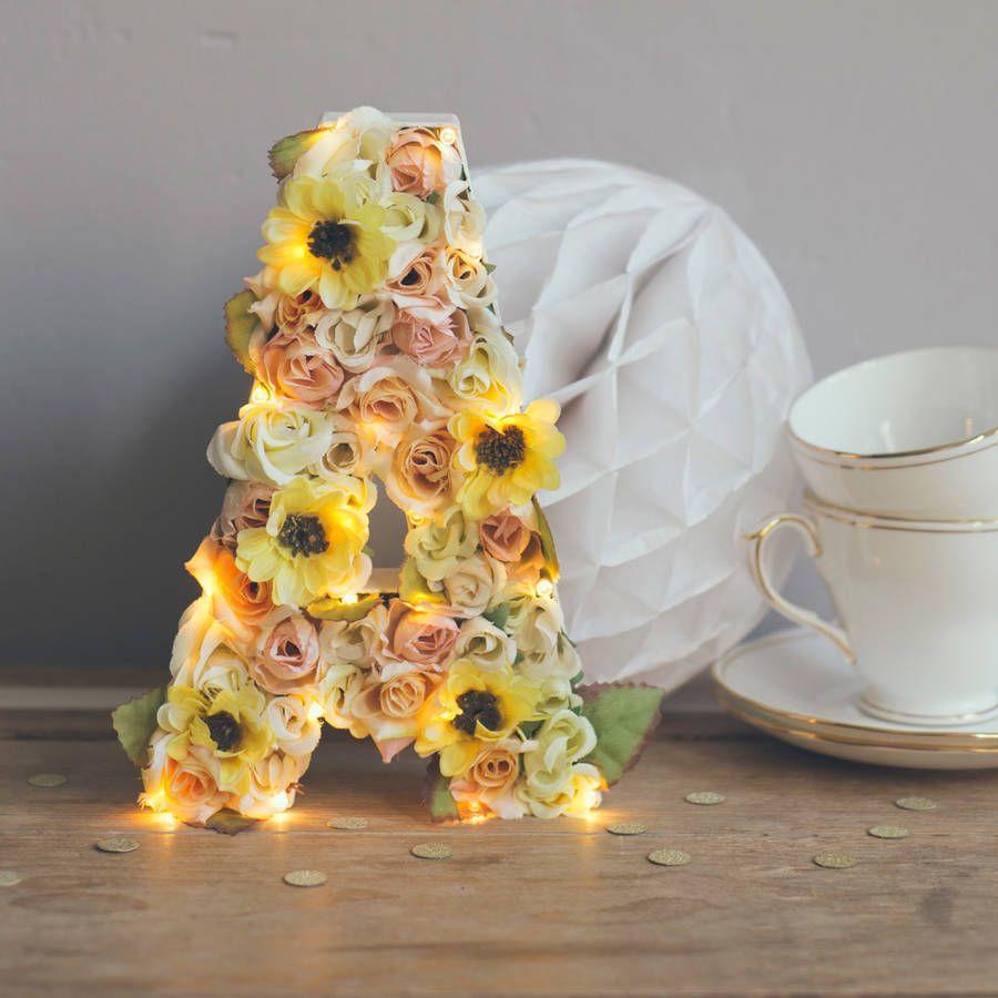 Handmade Flower Letter Light Pinterest Flower Letters Flower