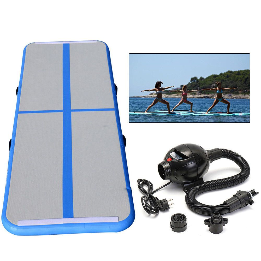 3 X 10ft Air Track Floor Home Inflatable Gymnastics Tumbling Mat Gym With Pump Ebay Link Gymnastics Tumbling Mat Tumble Mats Air Track