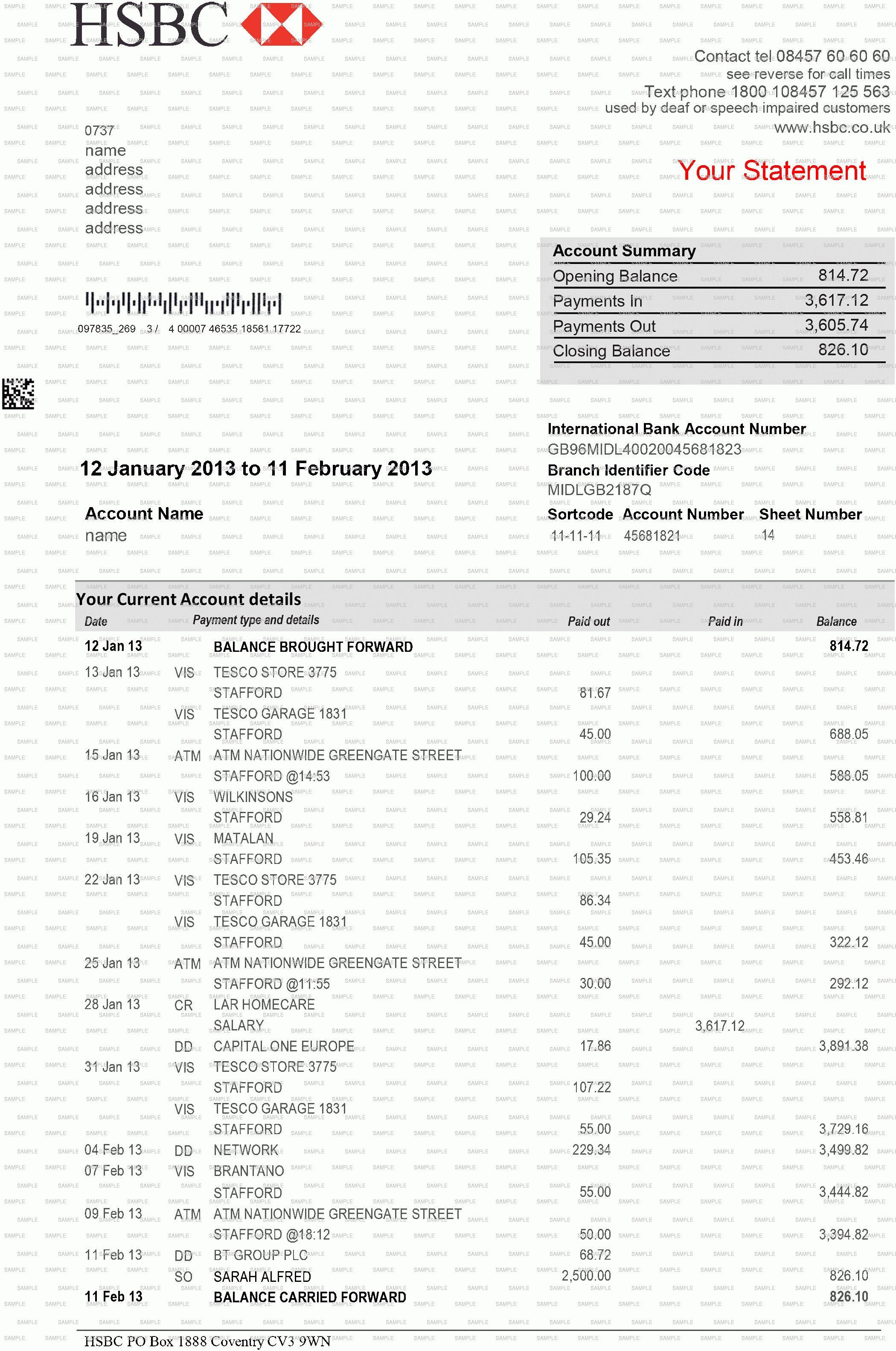 Fake Bank Statement Generator 7 Create Fake Bank Statement Template Statement Template Bank Statement Document Templates