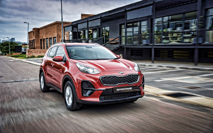 Download Wallpapers Kia Sportage 2019 Front View Exterior Crossover Facelift New Red Sportage Korean Cars Kia Besthqwallpapers Com In 2020 Kia Sportage Kia Sportage