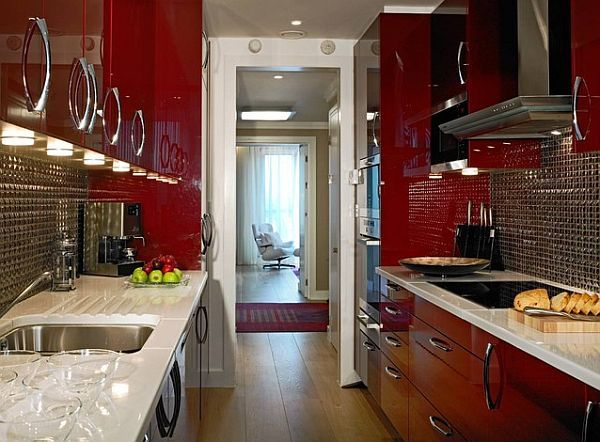 Red Kitchen Design Ideas, Pictures and Inspiration | Small kitchen ...