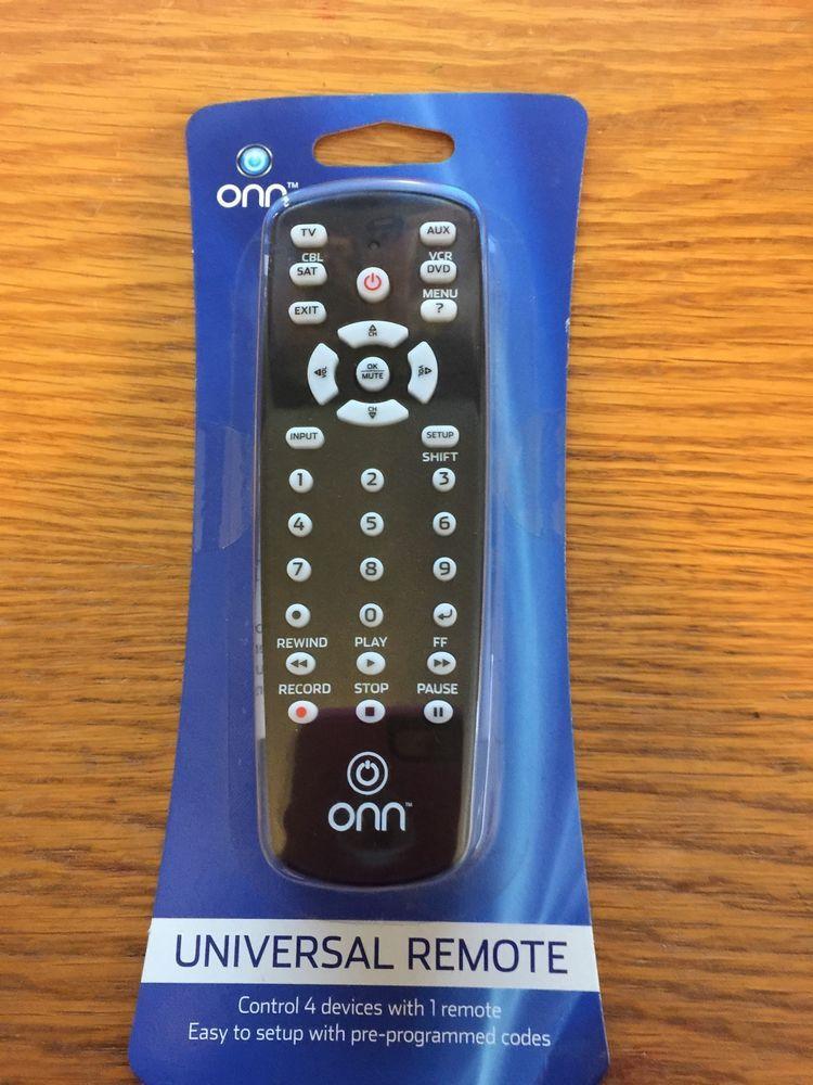 ONN Universal Remote Control Video TV Satellite Audio VCR Cable HDTV