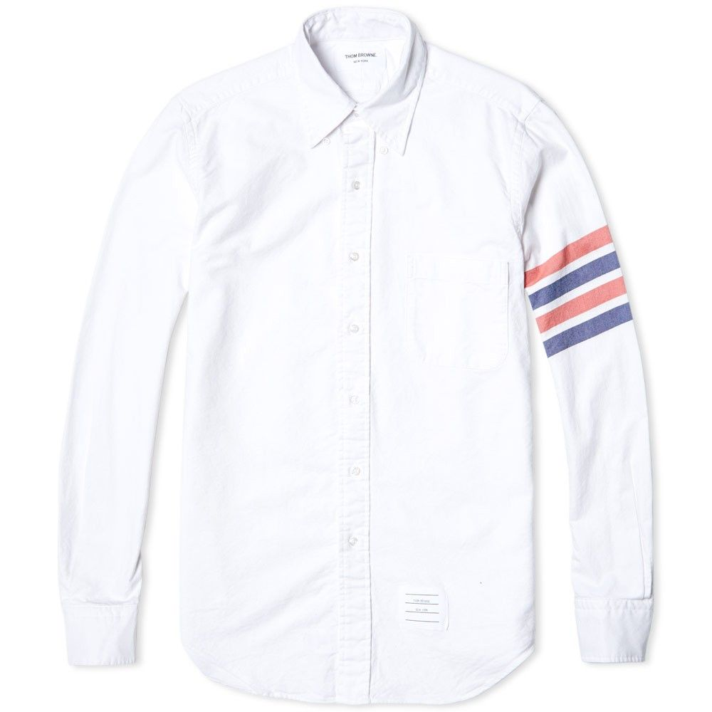stripes on sleeves shirt Thom Browne Free Shipping Enjoy Real Cheap Online 2018 Cheap Sale 1enVcnM
