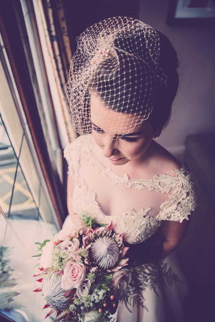 Birdcage Veil Bride Bridal Dress Gown House of Mooshki Alternative ...