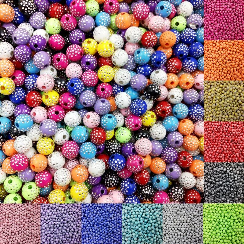 New Lot Acrylic DIY Beads Jewelry Bracelet Necklace Making Findings Loose Beads