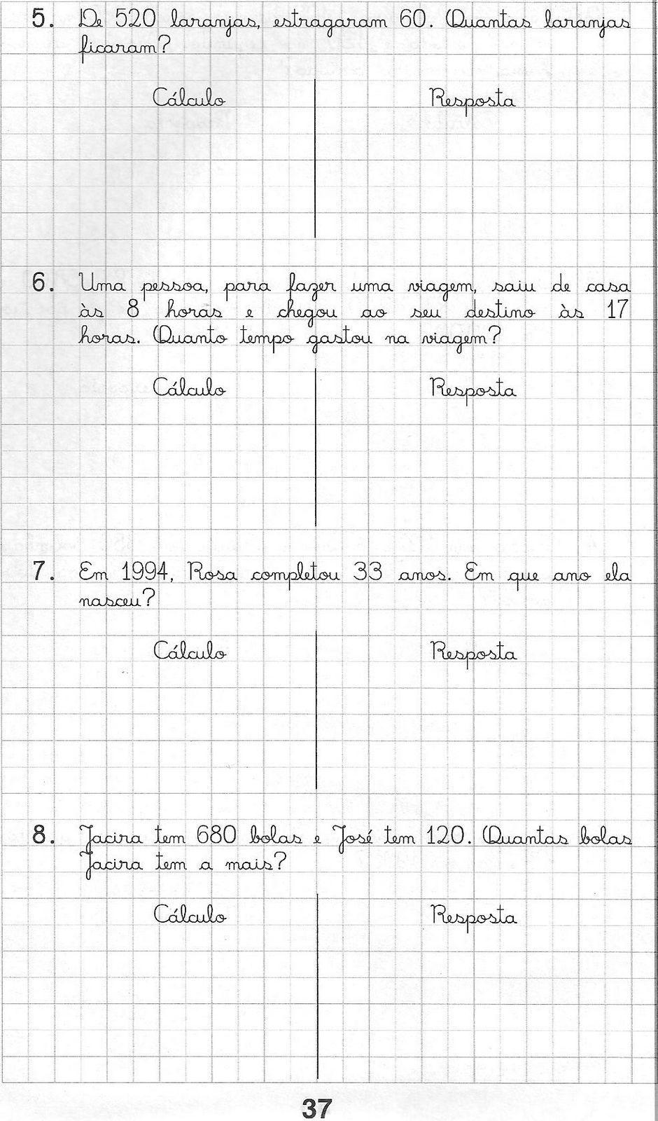 Interpretação de problemas matemáticos 5 ano