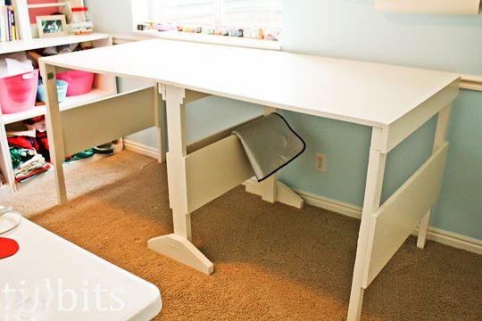 DIY folding craft table