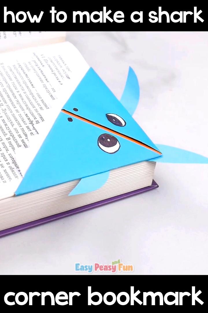 Photo of Shark Corner Bookmark Origami for Kids