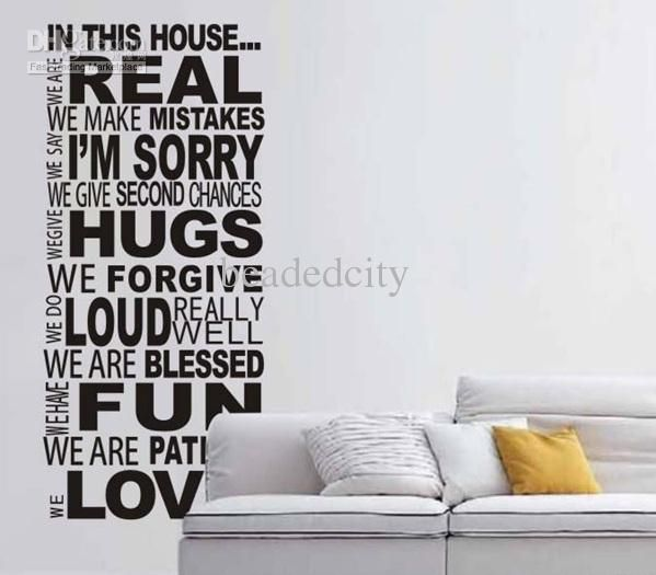 Funlifexcm We Do Real House Rules Version Wall Quote - House rules wall decals