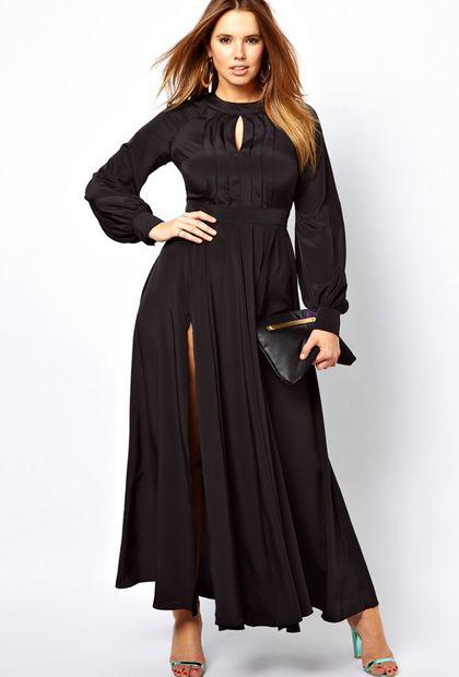 Modelos vestidos de fiesta tallas grandes