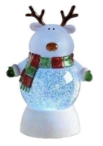 Amazon Com 7 5 Led Lighted Color Changing Reindeer Christmas Glitterdome Snow Globes Christmas Reindeer Snow Globes Reindeer