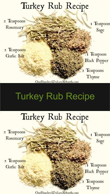 Turkey Rub Recipe - The ingredients and how to make it please visit the website #simple #recipes #turkey