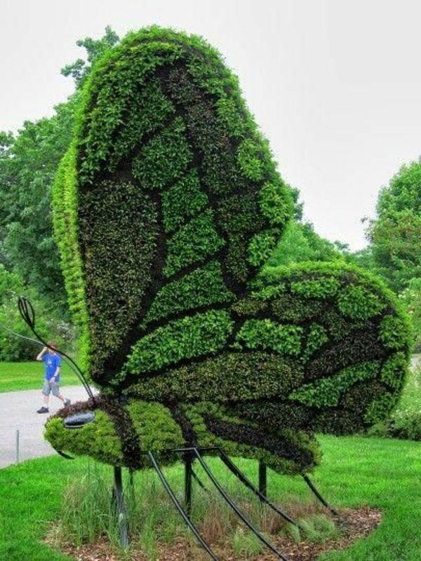 buchsbaum formschnitt garten figuren schmetterling | garten, Gartenarbeit ideen