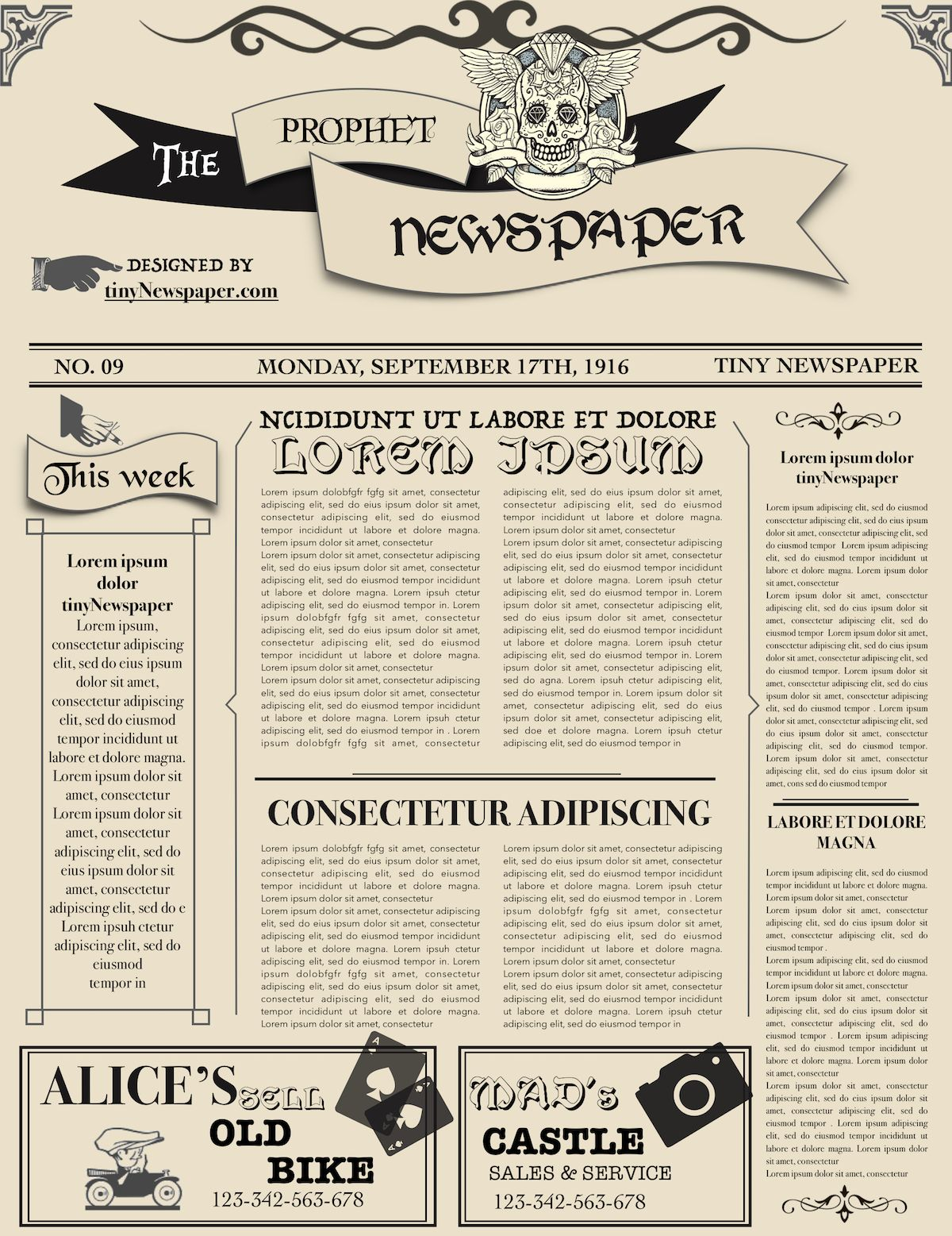 Old Time Newspaper Template Google Docs Word Article For Old