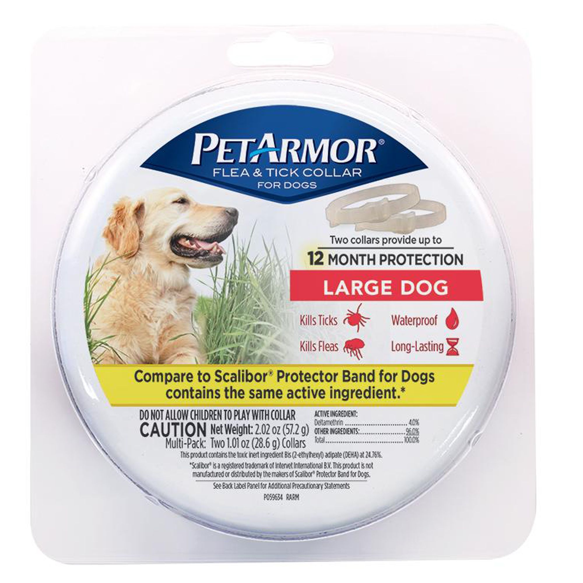 Petarmor Flea And Tick Collar For Dogs 2 Count Size Large Blue