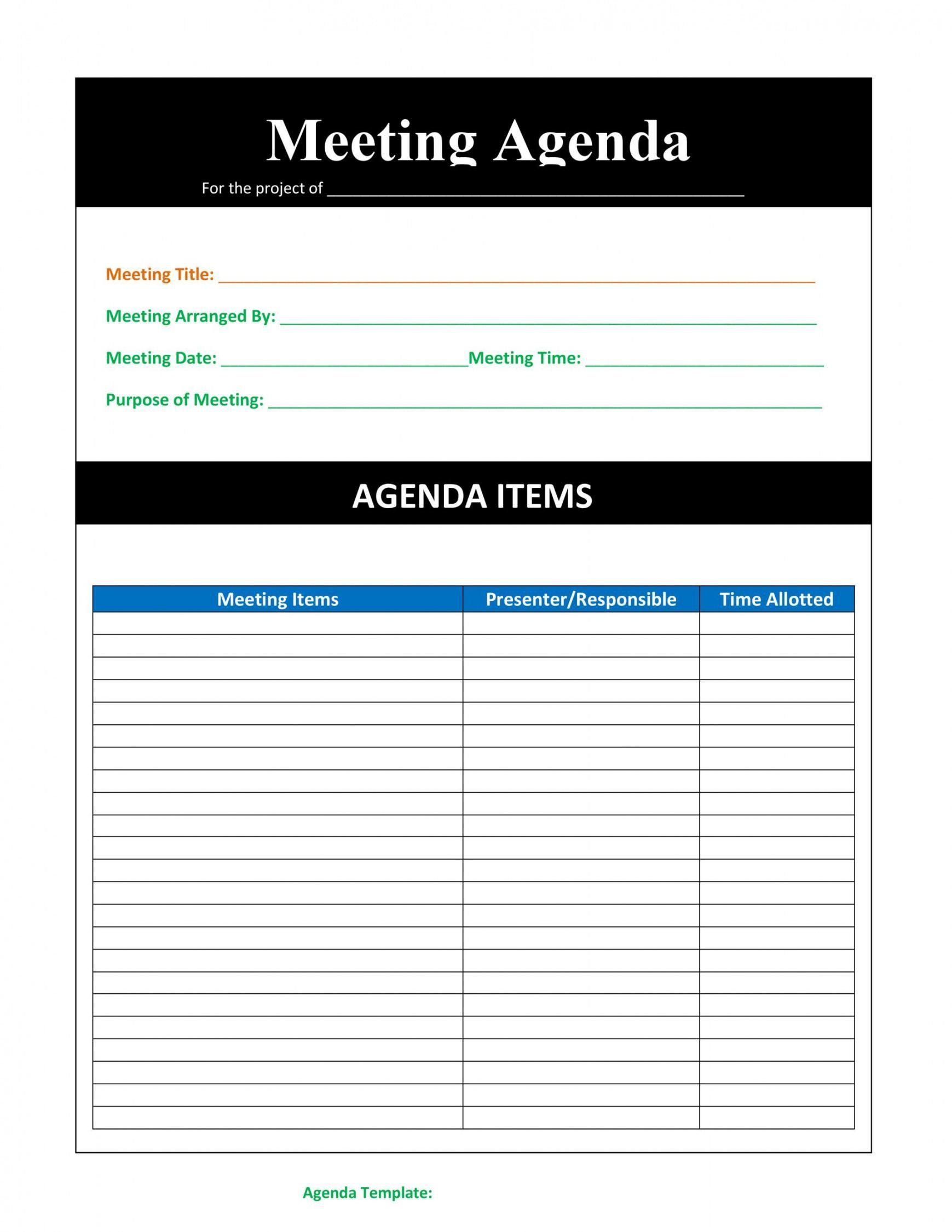Workshop agenda template microsoft word