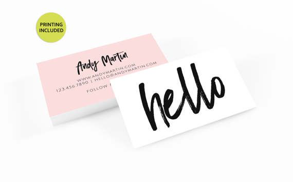 black and blush business card 500 printed business cards get the dream job - Print Custom Business Cards