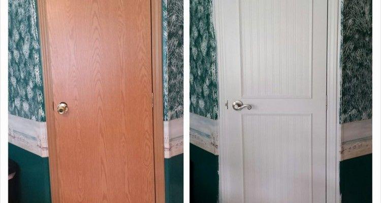 Mobile Home Interior Door Makeover Door Makeover Interior Door