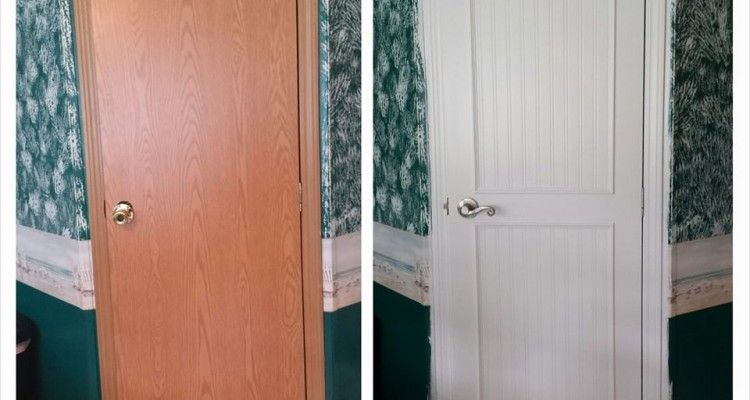 Mobile Home Interior Door Makeover Mobile Home Living Mobile Home Doors Diy Interior Doors Interior Door Makeover
