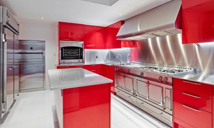 Rote Küchen Plane Farbige Küchenfronten