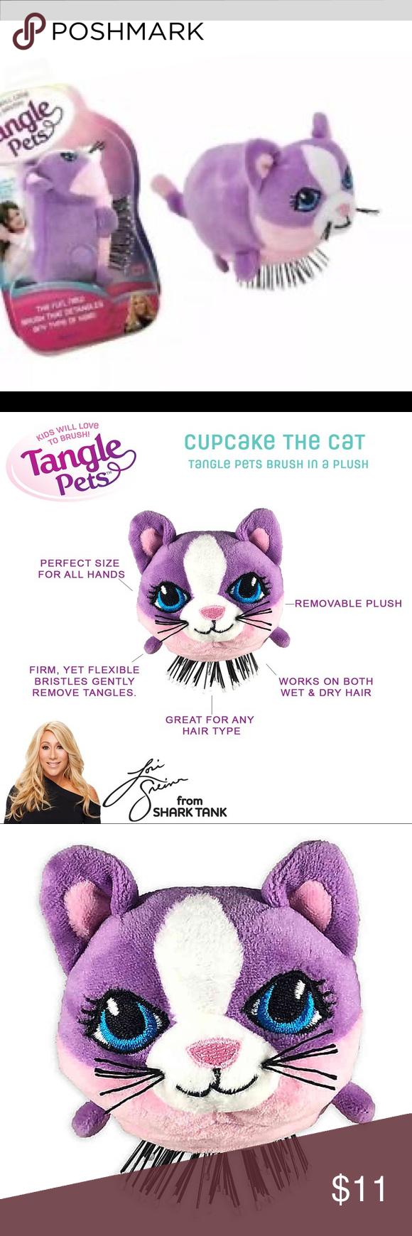 Sold Kids Detangler Brush Cupcake The Cat Purpl Nwt