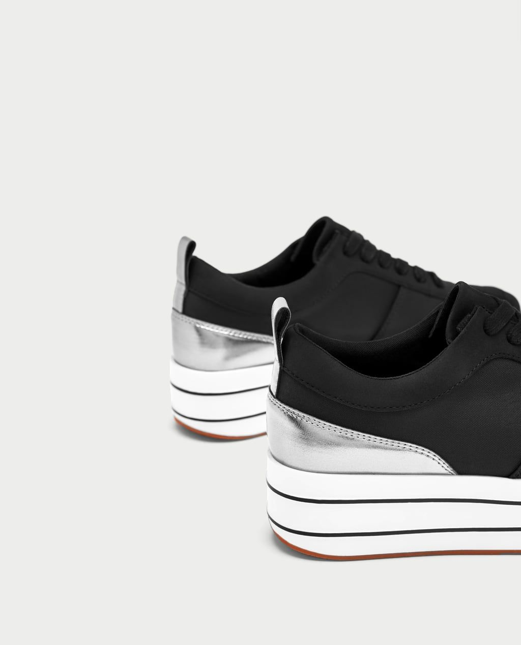 Zdjecie 1 Buty Sportowe Na Platformie Z Zara Black Platform Sandals Women Platform Sneakers Shoes