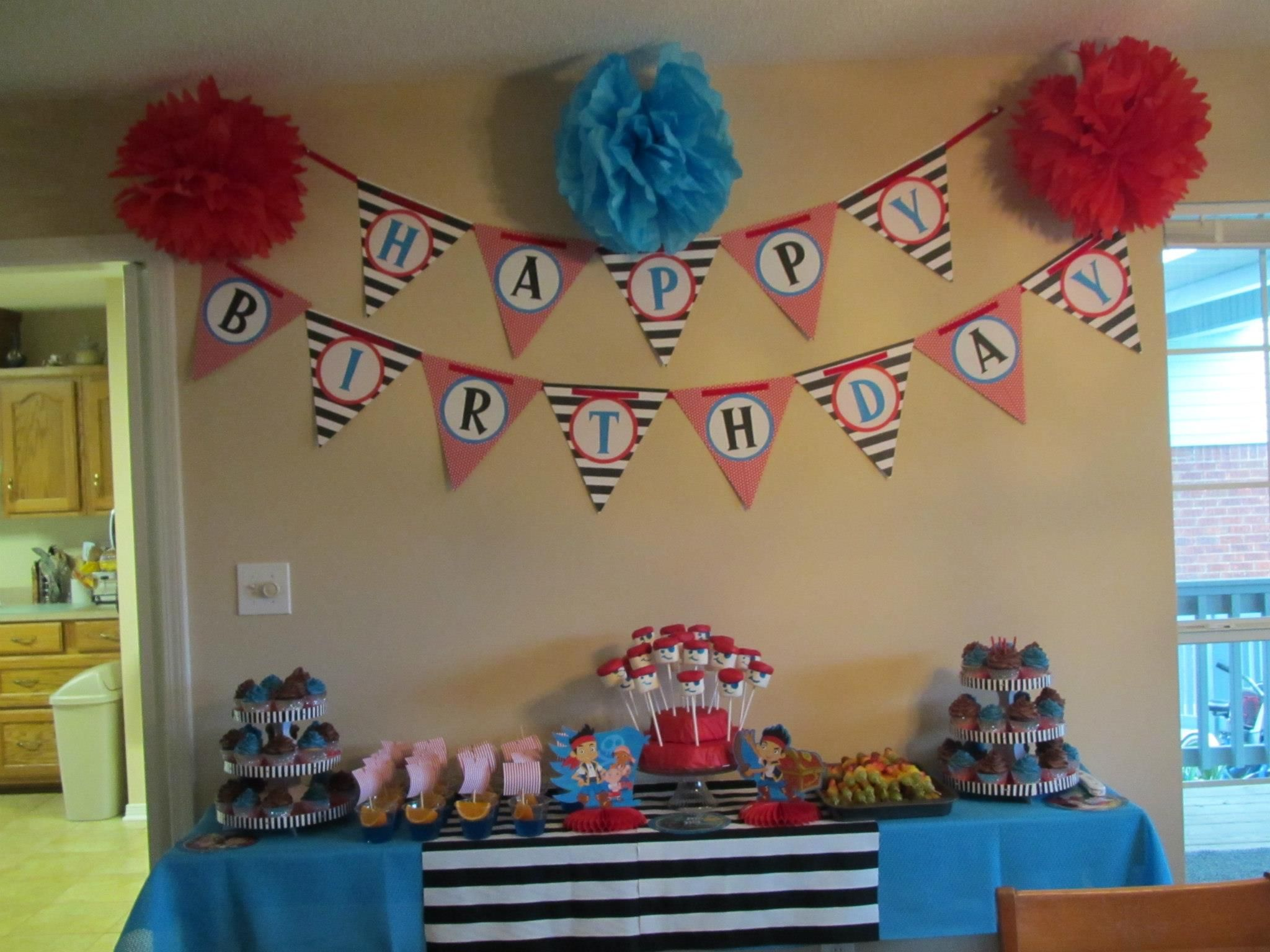 Pirate Birthday Party 4 year old Pirate Party Ideas Pinterest