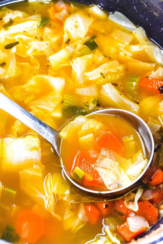 Cabbage soup detox vegan glutenfree healthy soup