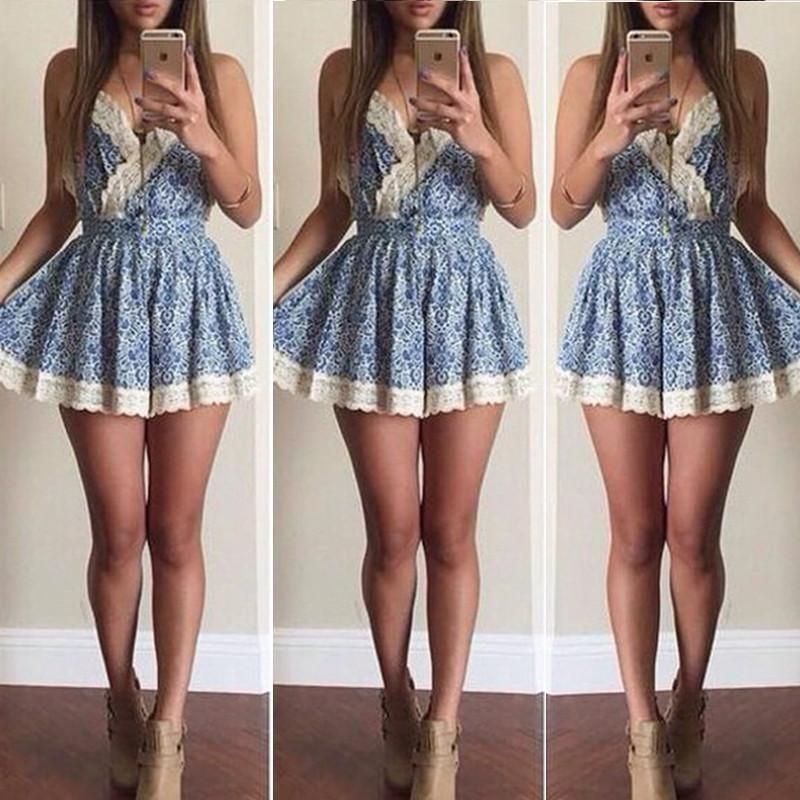 Aliexpress.com : Buy Fancy Fantasy Women Dress V Neck Mini Print Casual Lace Dresses Strap Sleeve Plus Size XL XG Summer 2015 Hot Sell Free Shipping from Reliable Dresses suppliers on Fancy Fantasy | Alibaba Group