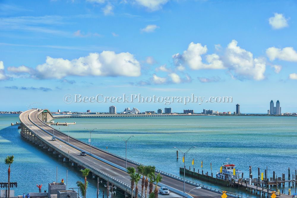 Isabella Bridge Is The Only Road To South Padre Island From Port Isabel Many Tourist Come Here For Blue Waters And Miles Of White Sand Beaches