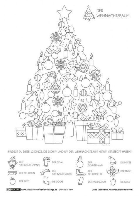 durch das jahr  weihnachten weihnachtsbaum  lubbersen