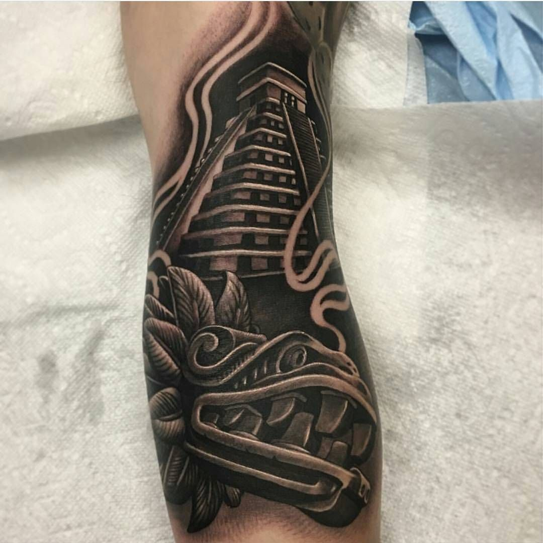 Aztec Temple Tattoo 1,407 likes, 6 comments - @mexicanstyle_tattoos on instagram