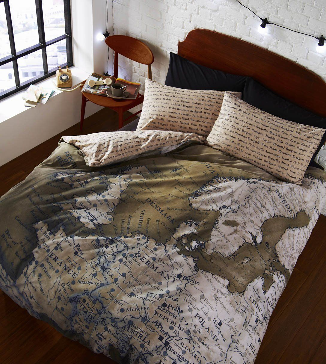 Catherine Lansfield Photographic Map Single Bed Duvet Set: Amazon.co.uk: Kitchen & Home