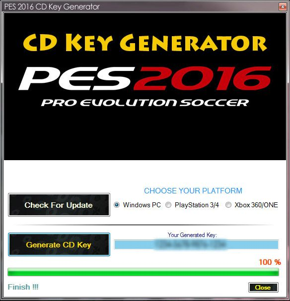 PES 16 Generator serial number | Places to visit | Pes 2016
