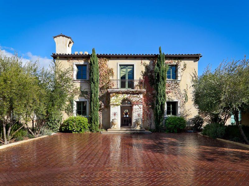 Tuscan style villa in montecito dream home pinterest for Tuscan villa house plans
