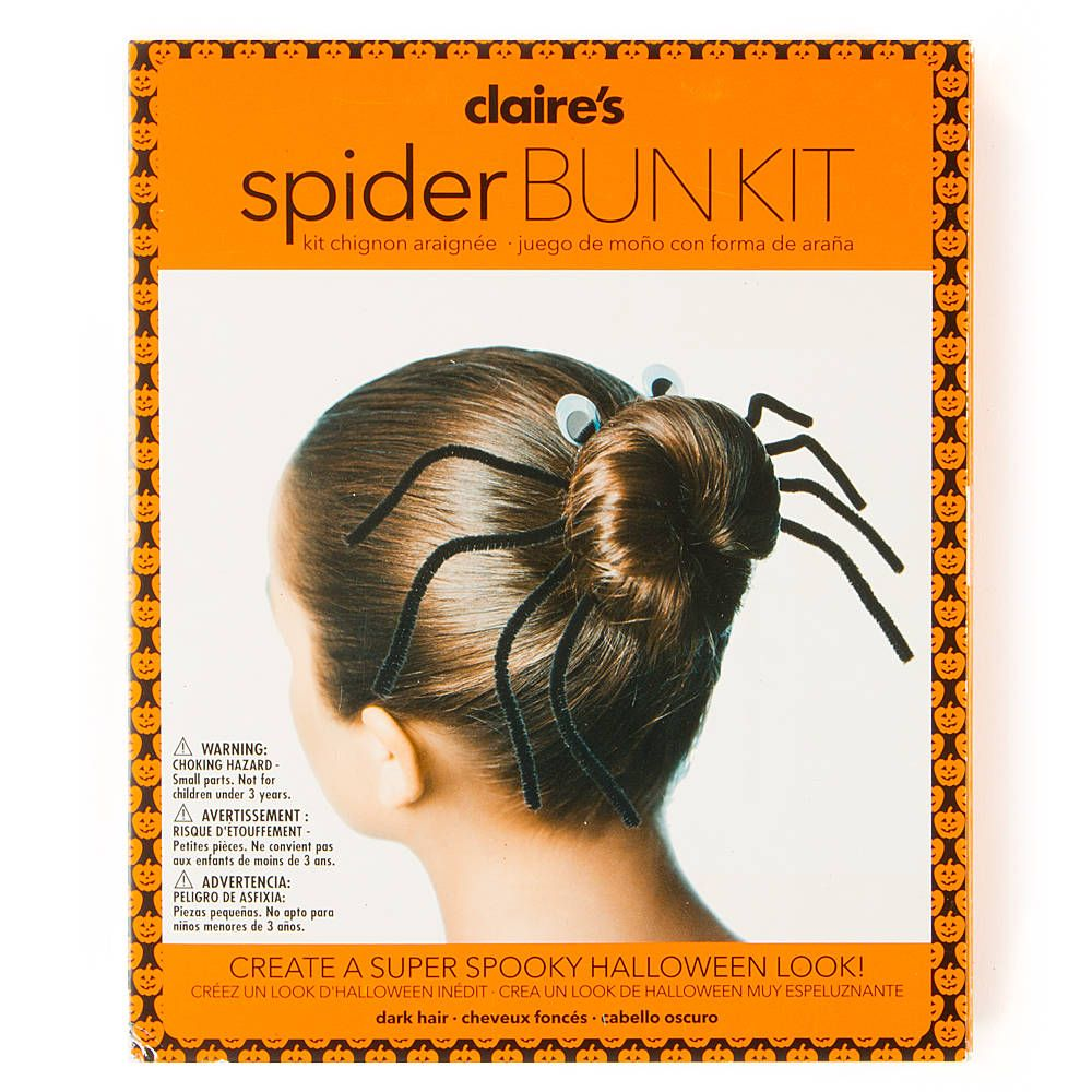 mom for u..halloween spider bun kit | claire's | halloween costume