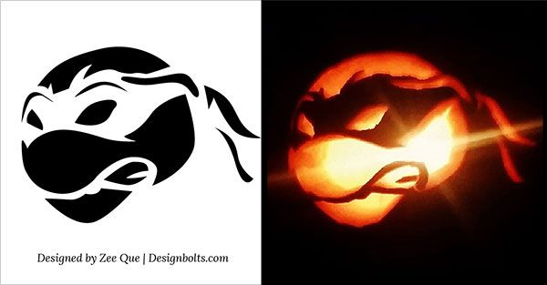 10 Free Halloween Scary U0026 Cool Pumpkin Carving Stencils / Patterns /  Templates / Ideas 2015 Part 49