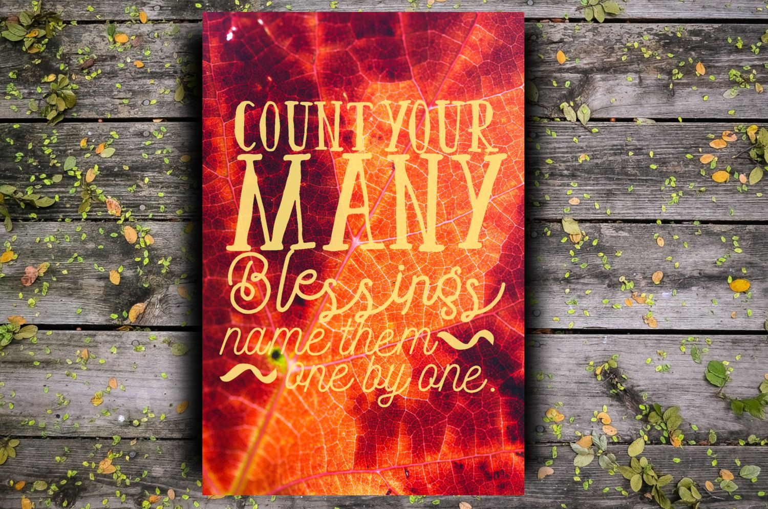 Thanksgiving Sign Instant Download Printable Art Count