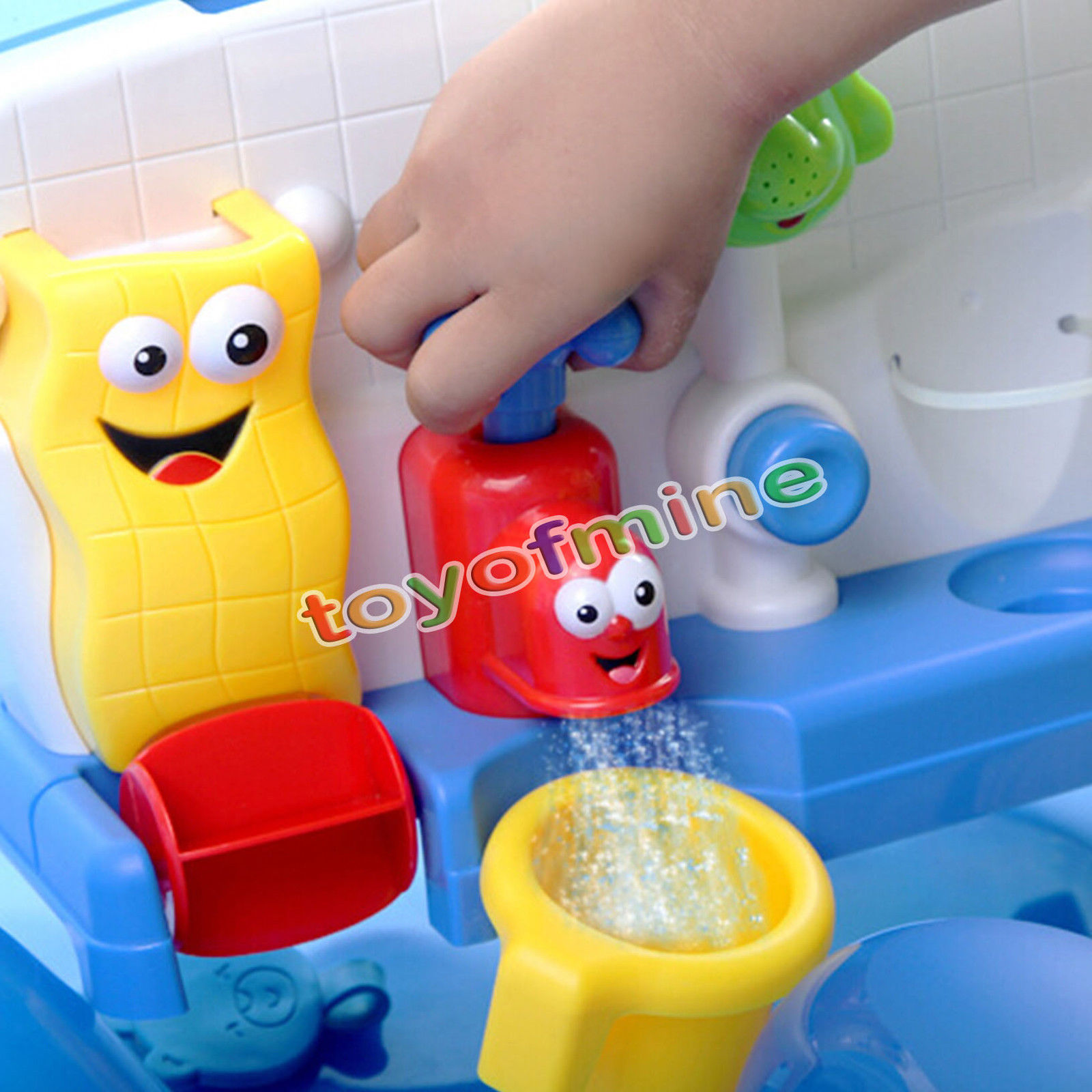 Bath Toys Water Faucet Taps Spout Spray Shower Water Play For Kid ...