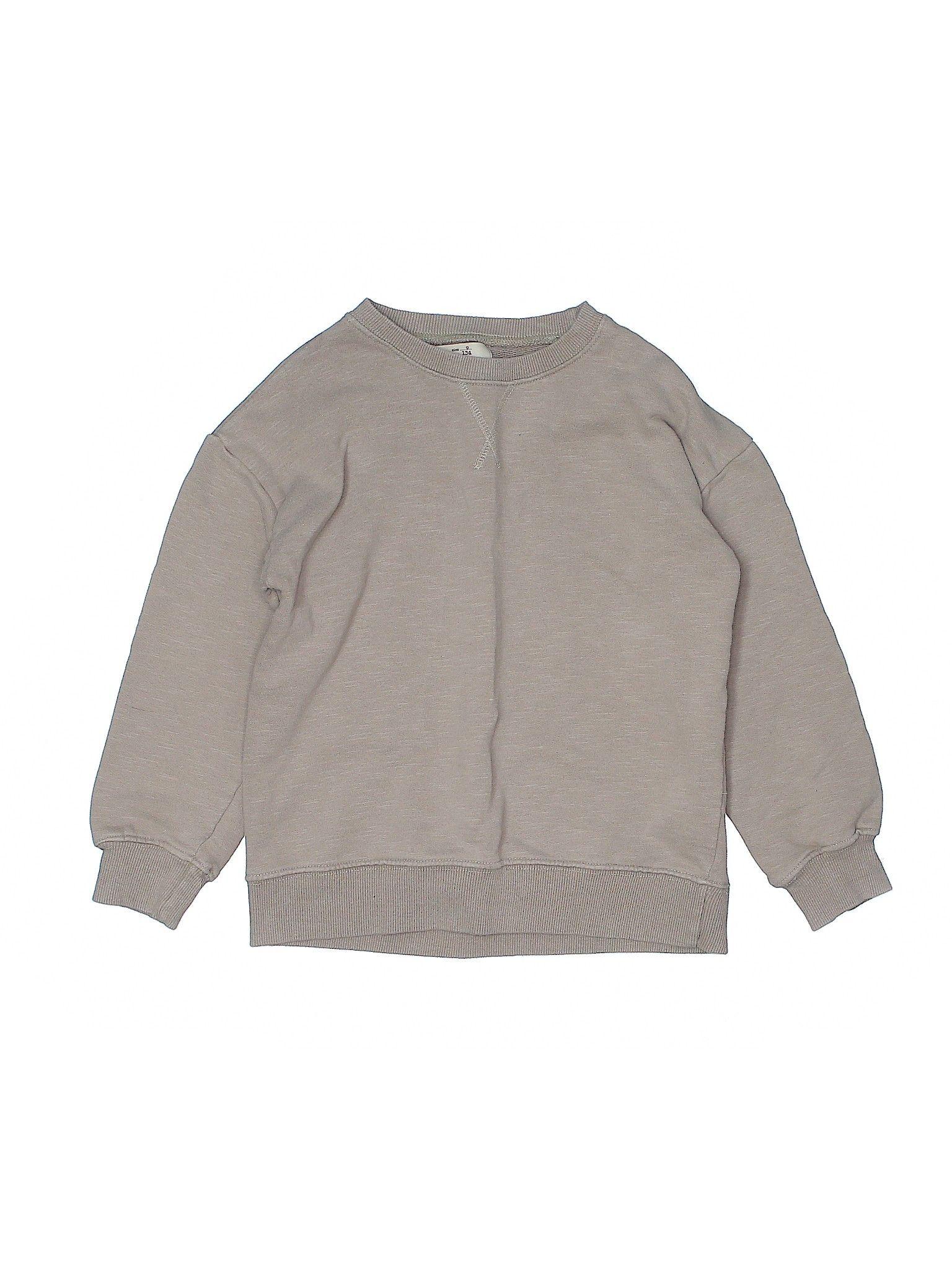 Zara Sweatshirt Tan Boy S Tops Size 9 Zara Sweatshirt Clothes Second Hand Clothes