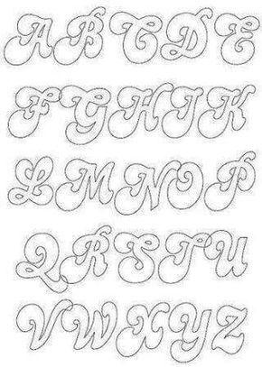 patrones letras de fieltro write away calligraphy