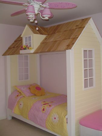 Doll House Or Playhouse Twin Bed With Roof