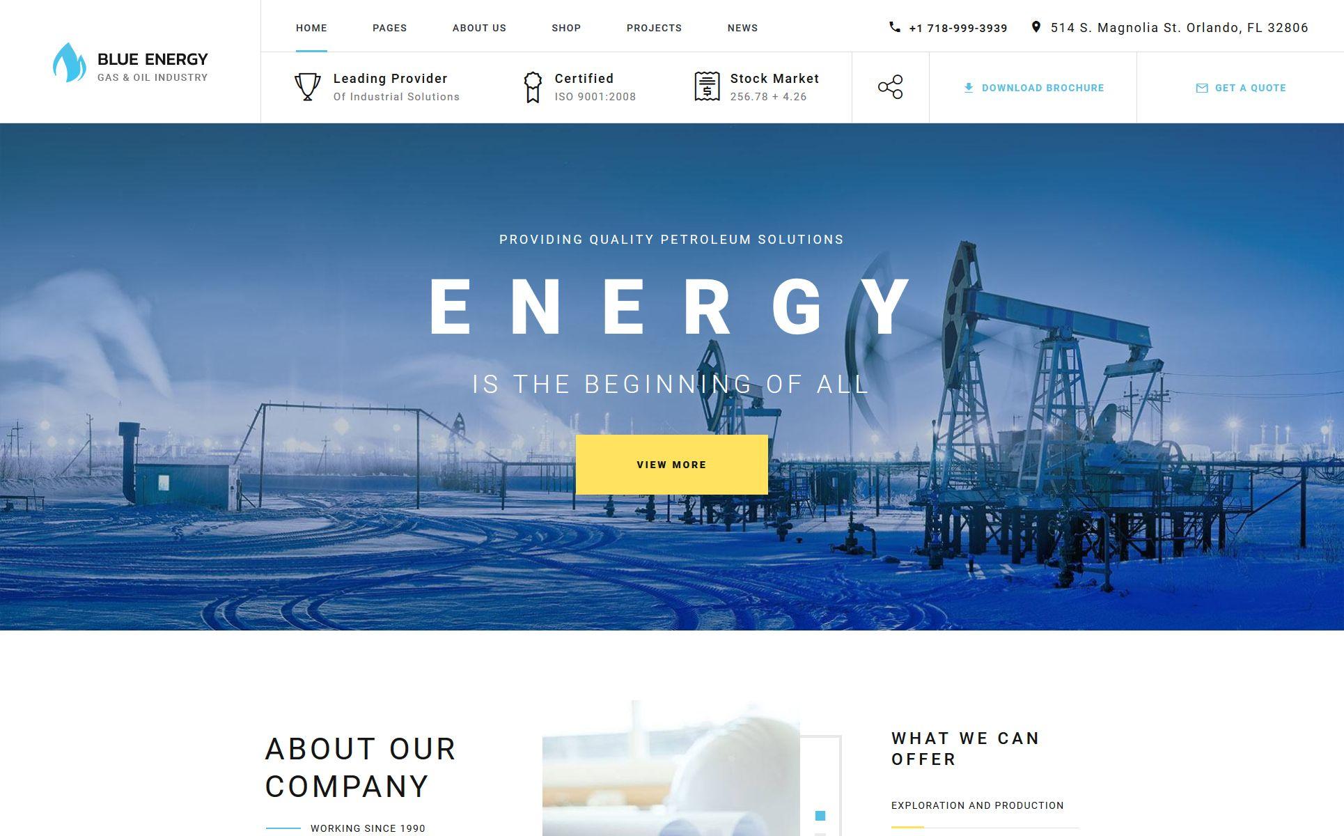 Industrial Multipage Website Template Templatemonster Business Website Design Templates Website Template Business Website Design