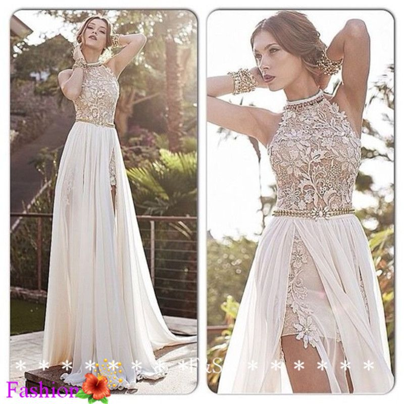 Aliexpress Stunning Lace Wedding Dress Summer Beach Y High Low