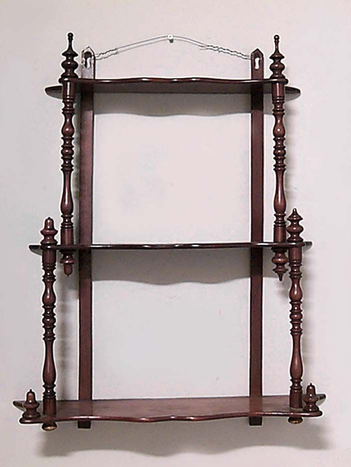 Antiques Antique Edwardian Mahogany Wall Mounted Shelves Antique Furniture Whatnot Collectors Shelving