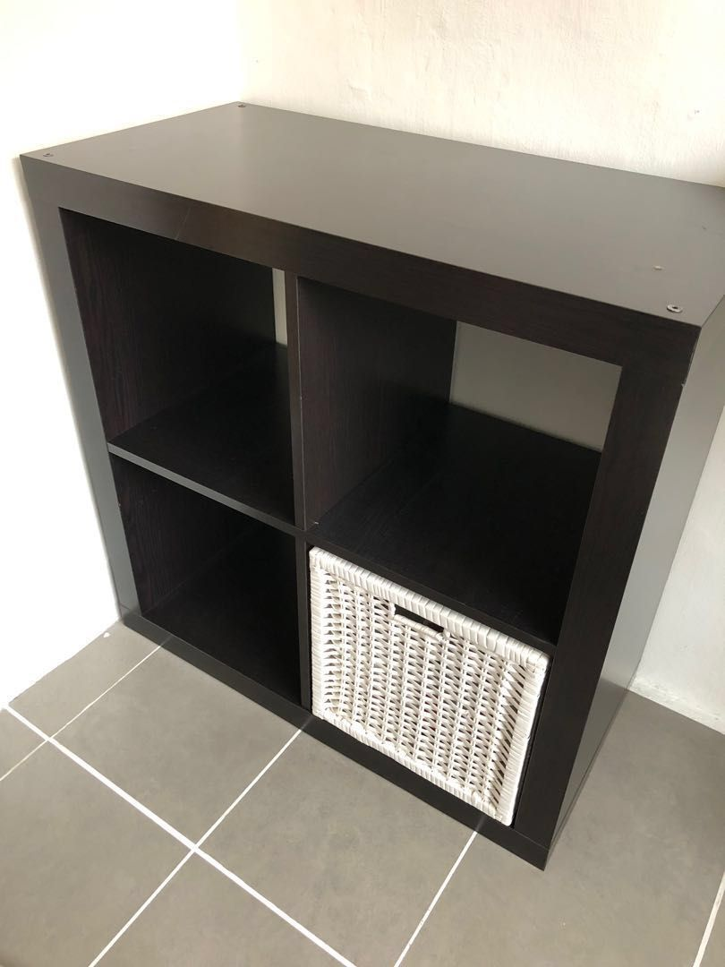 Ikea Kallax Shelving Unit Black Brown Shelf Furniture Shelves Ikea Kallax Shelving Kallax Shelving Unit Kallax Ikea